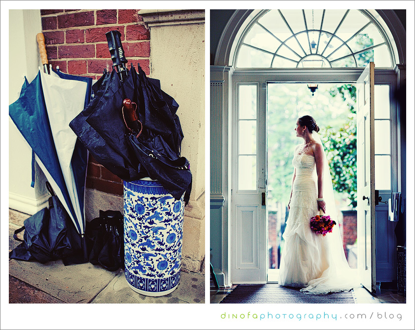 Dumbarton House Bride1 what should you do if it rains on your wedding day? | julia+pat