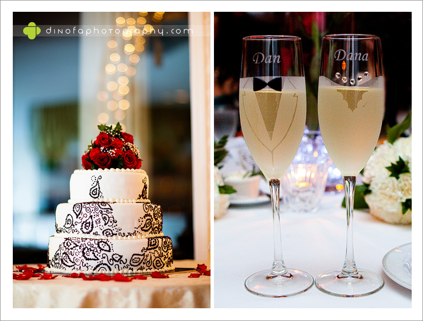 New Years Eve Wedding Cake as the ball drops | dana+dan
