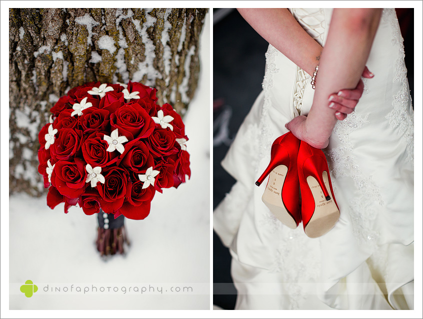 Red Wedding Shoes let it snow & let it snow some more | erin+steven