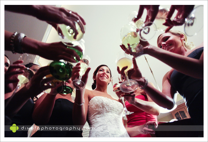 South Jersey Wedding Toast as the ball drops | dana+dan