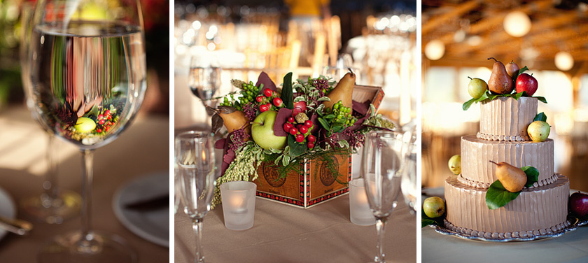 fruit crate wedding center pieces free as a bird | nikki+kevin