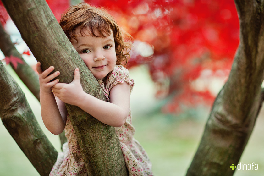 linwood nj portrait photography red leaves & red curls | lily