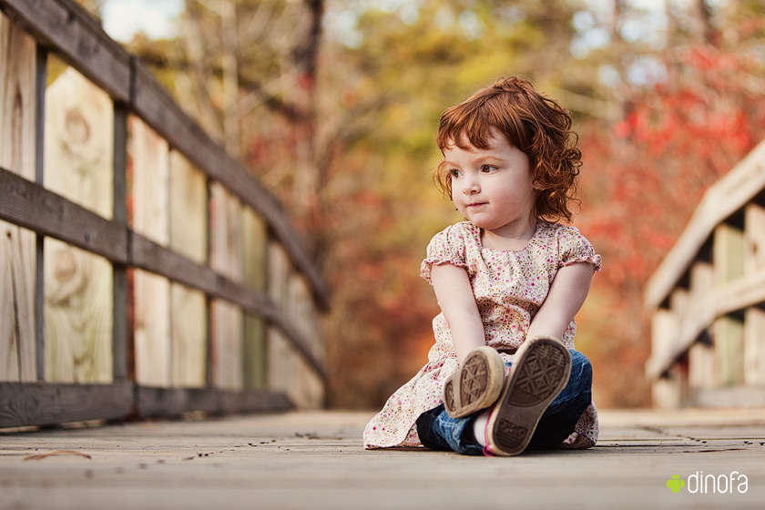 outdoor child photographer south jersey red leaves & red curls | lily