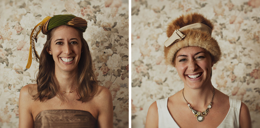 vintage wedding hats free as a bird | nikki+kevin