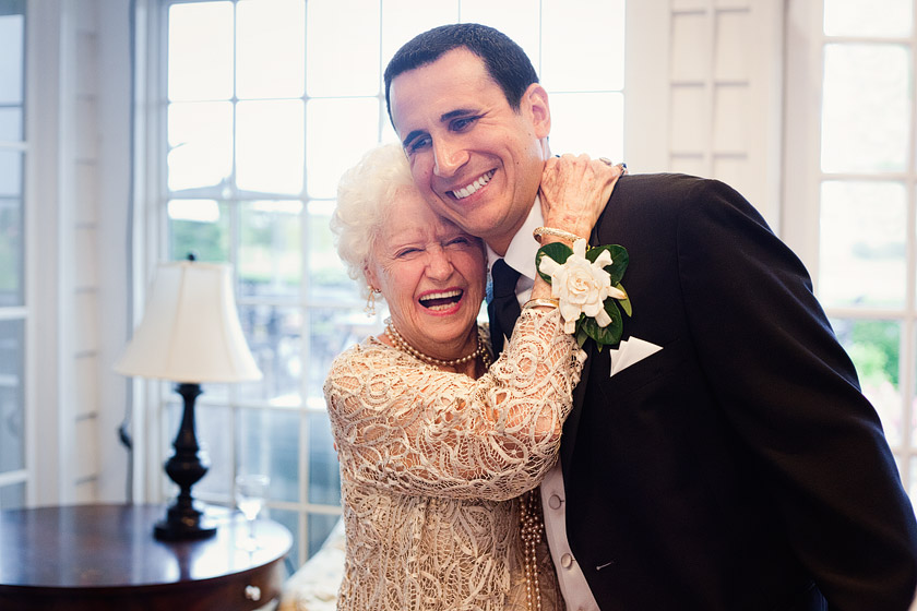 grandmom groom at wedding  rainbow from heaven | danielle+joe