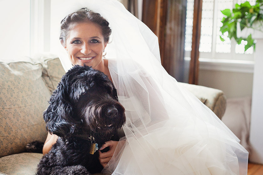 bride with dog1 flame of my life | shannon+dave