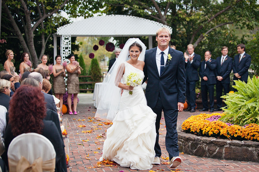 garden wedding ceremony flame of my life | shannon+dave
