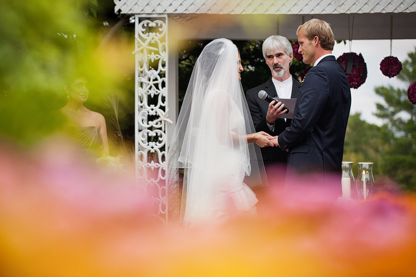 outdoor garden wedding ceremony nj1 flame of my life | shannon+dave