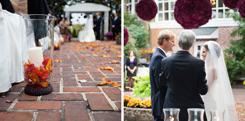 smithville inn fall wedding ceremony photos flame of my life | shannon+dave
