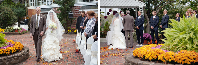 wedding ceremony at smithville inn nj flame of my life | shannon+dave