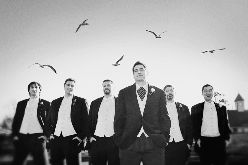 cool groomsmen pictures floating dreams | abby+erik