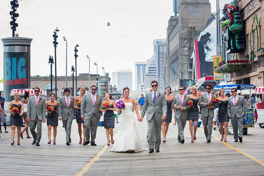 Wedding On The Atlantic City Boardwalk Next Thing Leah Chris